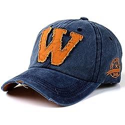 Gorra de béisbol de algodón retro - viejo estilo iParaAiluRy al aire libre unisex de moda ajustable bordado del sombrero de vaquero para hombres y mujeres