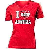 I Love Austria Fanshirt - Damen T-Shirt Gr.S bis XXL - Golebros
