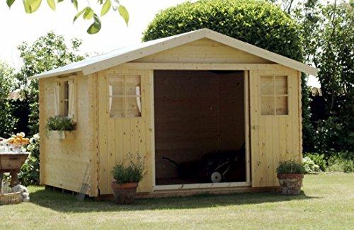 Gartenhaus EVERE mit Dachpappe | naturbelassen ohne Farbbehandlung