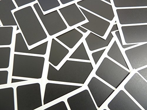 65x30mm Rectangular Código De color Pegatinas - Packs de 45 de color Rectangulo Etiquetas Adhesivas - 30 Colours Disponible - Negro