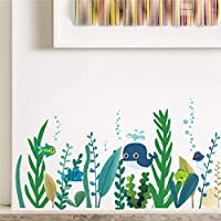 Undersea Whale Fish Seaweed Wall Decals Bedroom Nursery Home Decor Animal Wall Stickers DIY Posters PVC Wallpaper