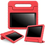 Fire 7 2015 Case - MoKo Kids Shock Proof Convertible Handle Light Weight Super Protective Stand Cover Case for Amazon Kindle Fire 7 Inch Display Tablet (5th Generation - 2015 Release Only), ROJO