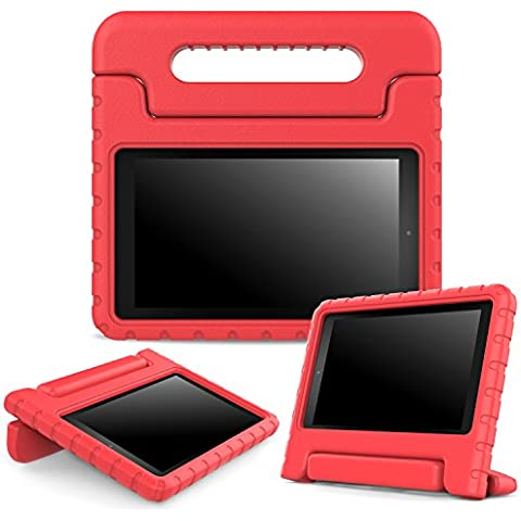 Fire 7 2015 Case - MoKo Kids Shock Proof Convertible Handle Light Weight Super Protective Stand Cover Case for Amazon Kindle Fire 7 Inch Display Tablet (5th Generation - 2015 Release Only),