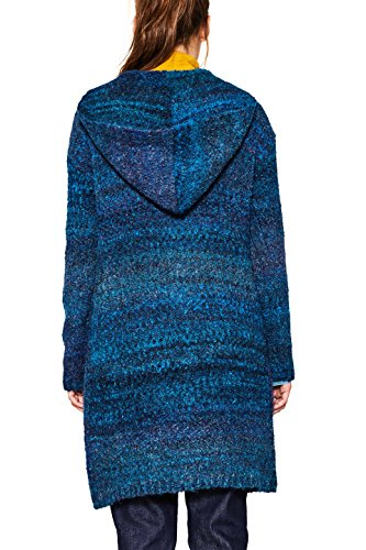 edc by ESPRIT Damen Strickjacke Blau (Petrol Blue 450)