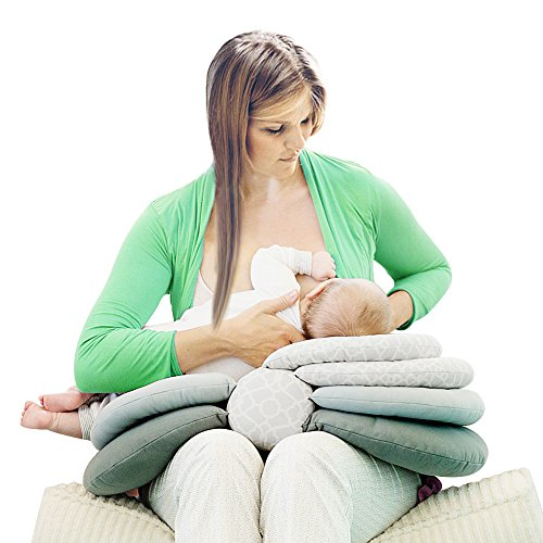 Cenblue Einstellbare Höhe Krankenpflege Kissen zum Stillen - Neugeborenes Baby Fütterung Multifunktionskissen Stillkissen Mutterschaft Kissen