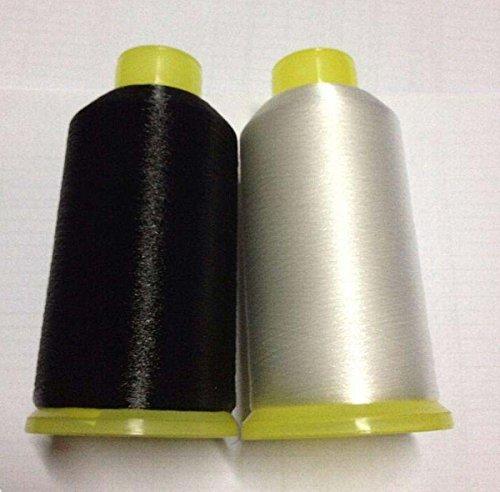 Chengyida Nylon-Nähgarn, transparent und schwarz, 0,1 mm, für unsichtbare Polsternähte, transparentes Monofil-Garn, unsichtbares Garn, Nylonspulenfaden, Quiltgarn, 8.010 m