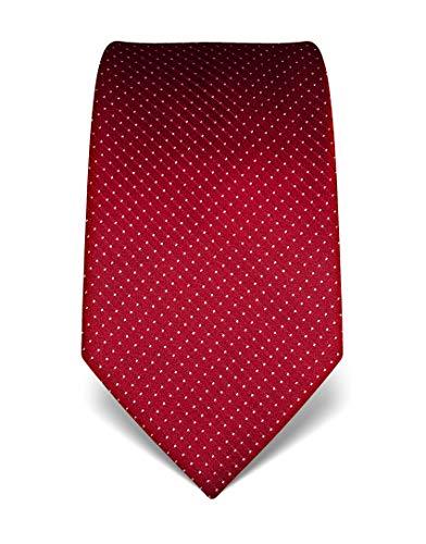 ren Krawatte reine Seide gepunktet edel Männer-Design zum Hemd mit Anzug für Business Hochzeit 8 cm schmal/breit weinrot ()