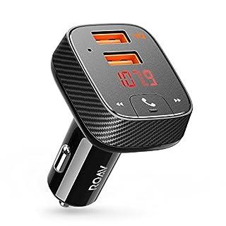 Anker AK-R5111012 Roav Auto Ladegerät Bluetooth Adapter FM Transmitter Receiver mit Auto Finder, 24W/4.8A Smartcharge Car Kit F2 mit Freisprecheinrichtung/GPS Tracker App für Ios und Android Geräte