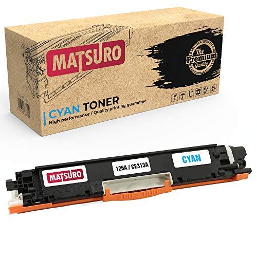 Matsuro Original | Kompatibel Tonerkartusche Ersatz für HP 126A CE310A CE311A CE312A CE313A (1 Cyan)