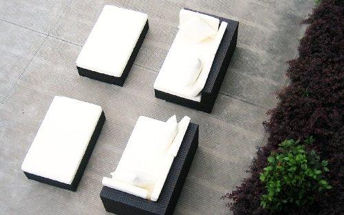 Baidani Gartenmöbel-Sets 10d00001.00002 Designer Rattan Lounge Paradise, 2 Sofas, Sitzauflage, Kissen, braun - 4