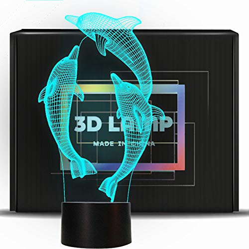 I Decorazione Night Ponlcy Sensor Colori Di 3d Per Compleanno Dolphin Usb Desk Lamp Bambini Regali Lamps Novità Illusion Led Lights Natale 7 Della lTFK1cJ3