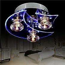 Lámpara Araña de Techo de Cristal para Recibidor, Barra, Cocina, Comedor, Habitación Niños