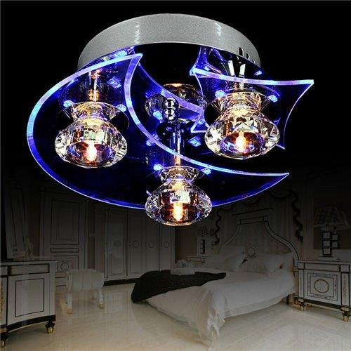 Lampadario pendente in cristallo led plafoniera moderno per ingresso, bar, cucina, sala da pranzo, stanza dei bambini 7w