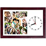 10in X 15in PERSONALISED/CUSTOMISED PHOTO FRAME WALL CLOCKS PHOTO CLOCKS CLOCK WITH PHOTOS FOR HOME DECOR AND GIFTING YOUR LOVED ONES FOR ALL OCCASIONS AND PARTIES Personalised & Customised Gifts For Him Her Family Friends Father Mother Sister Brother