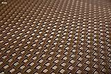 Polyrattan Balkonverkleidung Sichtschutz Balkonsichtschutz anthrazit braun weiß schwarz Kupfer grün Meterware Balkonbespannung 17,49€ / Quadratmeter (H 100cm, RD01 - hell braun)
