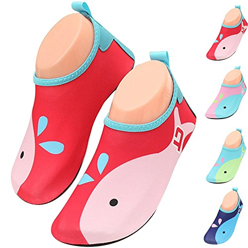 BOLOG Toddler Shoes Kids Swim Water Shoes Children Barefoot Aqua Socks Shoes Boys Girls Beach Pool Surfing Yoga Running Snorkeling Quick-Drying Skin Shoes Sport Flat Seaside Sport Shoes