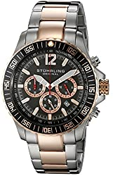 Stuhrling Original Men s 868.04 Octane Torricelli Quartz Chronograph Diver Two Tone Watch