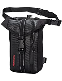 Ohmotor Motorcycle Riding Tactical Waterproof Drop Leg Bag Multi-purpose Sports Racing Hiking Waist Bag Fanny...
