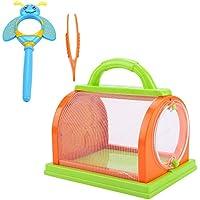 Bnineteenteam Bug Catching Kit Insetto Bug Catcher con Lente d'Ingrandimento e pinzette per Bambini 3+ (Arancione &e Verde)
