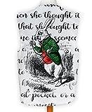 NEUHEIT Weste Kostüm Spass Legere Alice im Wunderland weißen Kaninchen - Mehrfarbig, L