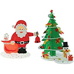 Christmas Combo - Sparkling Christmas Tree and Santa Surprize, Christmas DIY, Christmas Decorations, Christmas Gifts