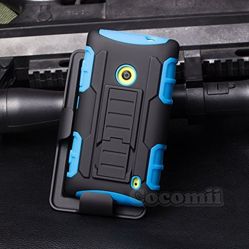 Nokia Lumia 520 Hülle, Cocomii Robot Armor NEW [Heavy Duty] Premium Belt Clip Holster Kickstand Shockproof Hard Bumper Shell [Military Defender] Full Body Dual Layer Rugged Cover Case Schutzhülle Nokia (Blue) (520 Nokia Silicon Case)