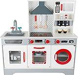 11081 Cucina per bambini 'Premium' small foot in legno, incl. macchina per il caffè, lavastoviglie, lavatrice, ecc. a partire dai 3 anni