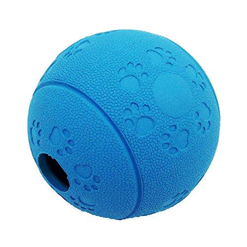 Ball Leckerli-Spender für Hunde Interaktives IQ Treat Training Spielzeug langsam Füttern Lösung, Naturkautschuk … (blau)