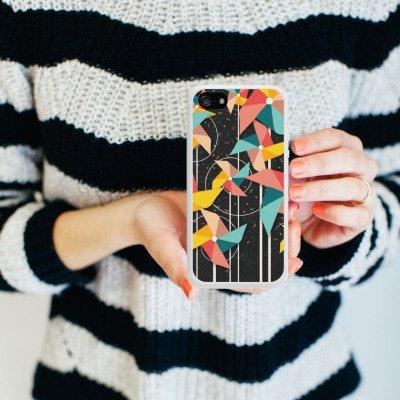 Apple iPhone 5s Housse Étui Protection Coque Éolienne Motif Motif Housse en silicone blanc