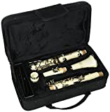 Merano WD401WT B Flat White/Silver Clarinet with Carrying Case Mouth Piece Screwdriver Reed and Cap