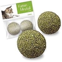 Forck Katzenminze-Ball Katzenspielzeug 2 Stück, unsere Minze-Bälle Bestehen zu 100% aus natürlichem Catnip   Beschäftigung & Spiel für Katzen
