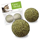 Forck Katzenminze-Ball Katzenspielzeug (2 Stück), unsere Minze-Bälle bestehen zu 100% aus natürlichem Catnip | Beschäftigung & Spiel für Katzen und Kitten