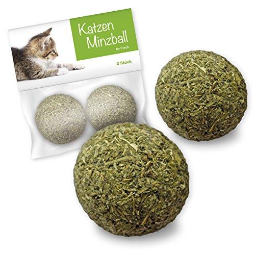 Forck Katzenminze-Ball Katzenspielzeug 2 Stück, unsere Minze-Bälle bestehen zu 100{2425790777f0e6ec11cf7ec2c564dbf0edeff141163e53ce19a8262c06fdb802} aus natürlichem Catnip | Beschäftigung & Spiel für Katzen