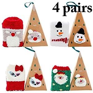 Bageek Calcetines de Navidad, 4