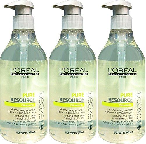 Loreal 3 er Pack Loreal Serie Expert Pure Resource Shampoo 500ml -