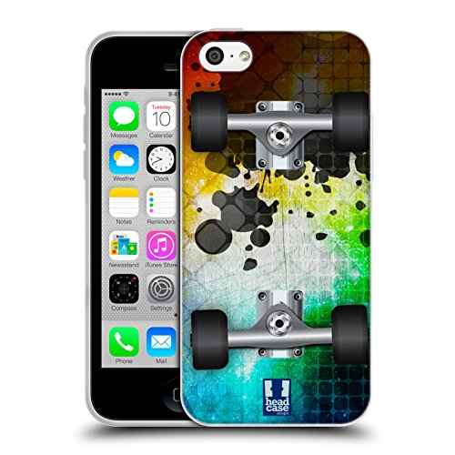 Head Case Designs Mosaic Skateboards Soft Gel Case for Apple iPhone 5c