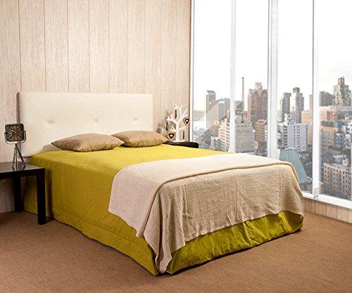 Cabecero Luxury Eco Piel Capitone (camas de 80/90, Blanco)