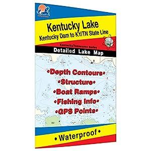 kentucky lake fishing map Kentucky Lake North Kentucky Dam To Ky Tn Line Fishing Map kentucky lake fishing map