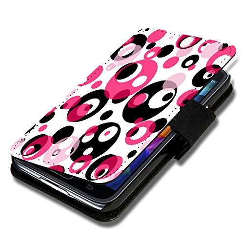 Book Style Flip Handy Tasche Case Schutz Hülle Schale Motiv Etui für Huawei Ascend Y300 - Flip X9 Design2