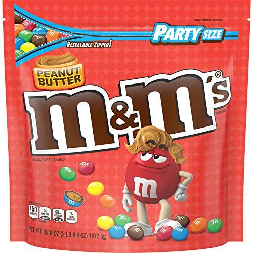 M&M's Peanut Butter - Erdnussbutter - Riesenpackung 1077g 38 oz Bag USA - Extreme Xxl Schokolade