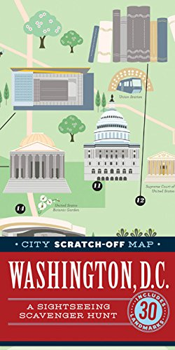 City Scratch-Off Map: Washington, D.C.: A Sightseeing Scavenger Hunt