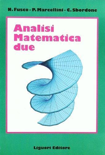 Analisi matematica 2 di Fusco, Nicola (1996) Tapa blanda