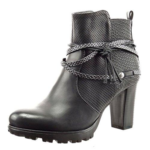 sopily-scarpe-da-moda-stivaletti-scarponcini-alla-caviglia-donna-pelle-di-serpente-tanga-metallico-t