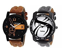 Relish Analog Multicolour Dial Watches Combo for Mens & Boys - RELISH-AZ002