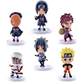 Magideal PVC Anime Naruto Action Figures, 7cm (Multicolour) - Pack of 6