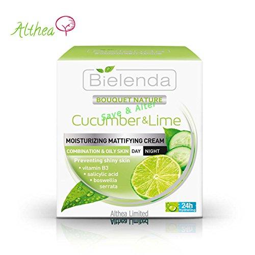 Bouquet Nature Gurke und Limette Tag / Nacht Mattierende Gesichtscreme für Mischhaut und fettige...