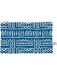 "Kess interno de 12,5x 21,6cm Dan sekanwagi ""líneas y zigzag"" todo bolsa–Azul"