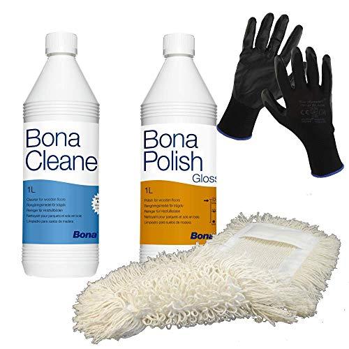 Bona Polish glänzend 1l und Bona Cleaner 1l Parkettpflege-Set