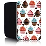 Biz-E-Bee Exclusive 'COLOURFUL CUPCAKES' (N2) Protective Neoprene Pouch for APPLE IPHONE 6 PLUS - Shock & Water Resistant Cover, Case, Pouch, Slip - Fast Ship UK