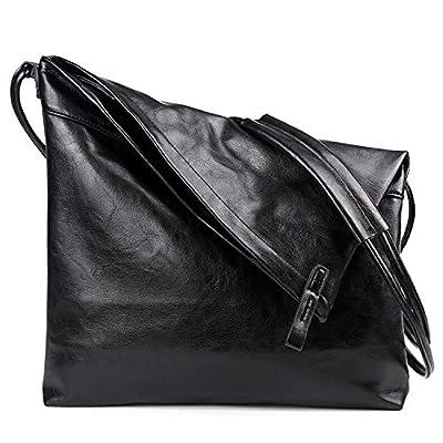 Outreo Sac bandoulière Homme Sacoche de Cours Sac Besace Cuir Sac Porté épaule Sac Voyage Vintage Sport Bag pour Tablette Sac Latéral